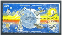 USA - 1981 - Nuovo - Esplorazione Lunare - Mi N. 1481/88 - Ongebruikt