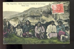 R BTPYS Argentine Indios Araucanos, Familia De Un Cacique Santa Cruz - Argentina