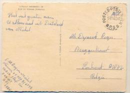 3pk367: POSTES-POSTERIJEN B.P.S. 6  -3-11-61 / Pk:   Luftkurort  ANSBERG I W. > Torhout - Marcofilia