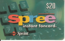 USA - Spree, Sprint Prepaid Card $20, Exp.date 30/09/97, Used