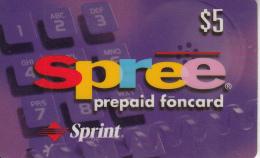 USA - Spree, Sprint Prepaid Card $5, Exp.date 31/03/99, Used