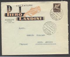 5198-BUSTA PUBBLICITARIA-CALZATURE PIERO LANDINI-MARNATE(VARESE)-1944 - Advertising