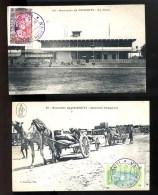 R BTPYS Somalie Lot De 4 Belles Cartes Dont La Gare  Cachet Oblitération: Djibouti Poste Radio - Somalie