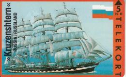 DENMARK - Sailing Boat, Kruzenshtern/Russia, Tirage 3500, 08/93, Mint - Bateaux
