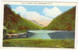 Lower Cascade Lake, Adirondacks, New York, 1910-20s - Adirondack
