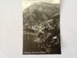 POSITANO PANORAMA E COSTIERA VIAGGIATA DEL 1957 - Salerno