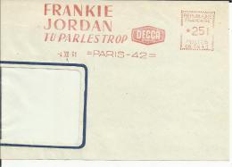 Lettre EMA Havas Cg Frankie Jordan Tu Parles Trop Themes Chanteur Arts Chanson Musique    L23/10 - Non Classés