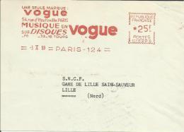 Lettre  EMA Havas Cg  Vogue Disques  Themes Musique Arts Chanteur  Chanson    L23/20 - Non Classés