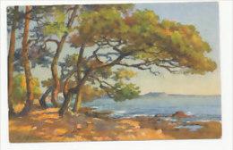 Paysage Maritime. Signée E. Robert - Robert