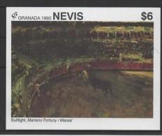 Nevis (1992) Yv. Bf. 52  /  Art - Paintings - Peintres - Pinturas - Mariano Fortuny I Marsal - Kunst