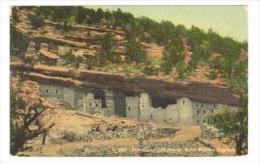 Reproduced Cliff Dweller Ruins, Manitou, Colorado, 1908 PU - Non Classificati