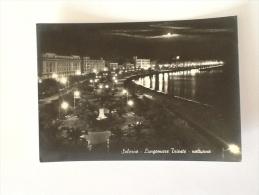 SALERNO LUNGOMARE TRIESTE NOTTURNO 1956 VIAGGIATA - Salerno