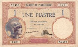 INDOCHINE : 1 Piastre 1921/26 (xf+) - Indochina