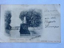 CARTOLINA   FRASCATI VILLA TORLONIA  VASCA SUPERIORE VIAGGIATA NEL 1902  II SCELTA - Altre Città