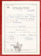 Formular, EF Eisenbahnpaketmarke, Gestempelt Charleroi Sud 1972 (40687) - Belgien
