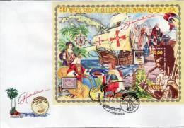 Lote CU4299F, Cuba, 2003,SPD-FDC,510 Aniv De La Llegada Del Habano A Viejo Mundo, Tabaco, Stamp On Stamp, Tobacco,native - Cuba
