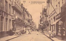"BLANKENBERGHE  écrite En 1911  édit AS "" Rue De L'Eglise ""  , Animation,...   Voir Scans - Blankenberge"