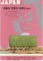 Tokyo Japan, Ginza Tokyu Hotel, Mid-century Design & Graphics, C1960s Vintage Postcard - Tokyo