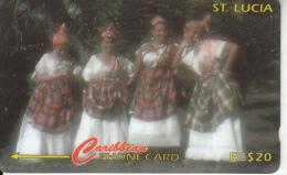 ST. LUCIA ISL.(GPT) - Women In National Dress, CN : 121CSLA, Tirage 30000, Used - Saint Lucia