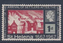 St. Helena ~ 1967 ~ Settlers/Fire Of London ~ SG 214 ~ MH/MM - Isola Di Sant'Elena