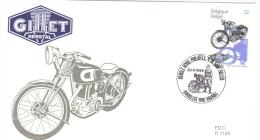 Belgique  -  Gillet Herstal  -  1937  -  FDC  -  Premier Jour D´Emission - Motorbikes