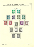 Deutschland DDR Dienstmarken 1954-1957 O - DDR
