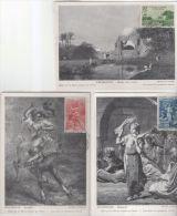 Lot 3 Cartes Maximum Oran Oeuvre Sociale De L'armée 1957 - Algeria (1924-1962)