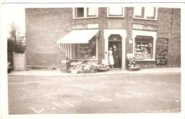 Photo/ CP - MARCINELLE - Une Rue ???  - Année 50, Car Sur Le Sol Inscription P.S.B. N°1 - Magasins