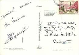 Carte Postale Pour La France Affranchie 0,30fr Croiix Gothique Yv 159 - Cartas