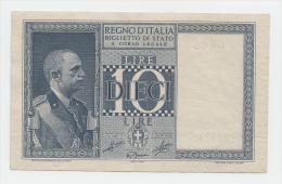 ITALY 10 Lire 1939 VF++ P 25c 25 C - [ 1] …-1946 : Koninkrijk