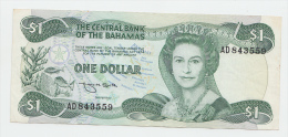 Bahamas 1 Dollar 1974 (1984) VF++ CRISP Banknote P 43b 43 B - Bahamas