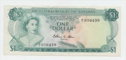 """Bahamas 1 Dollar 1974 """"F+"""" Crisp Banknote P 35b 35 B - Bahamas"""