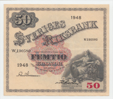 SWEDEN 50 Kronor 1948 AXF P 35ac - Suède