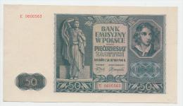 Poland 50 Zlotych 1941 AUNC CRISP Banknote P 102 - Poland