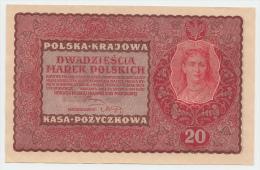POLAND 20 MAREK 1919 AUNC P 26 - Poland