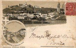 [DC8188] TREVISO - CONEGLIANO - PONTE DELLA MADONNA - Viaggiata 1898 - Old Postcard - Treviso