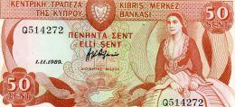 P. CHYPRE : 50 Sent 1989 (unc) - Cyprus
