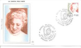 82383)  FDC   Donne Nell'arte - Serie Ordinaria - 26 Giugno 2004 - 1946-.. République