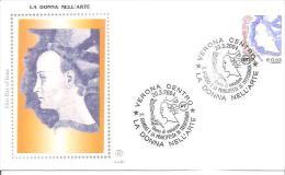 82397)  FDC   Donne Nell'arte - Serie Ordinaria - 20 Marzo 2004 - 1946-.. République