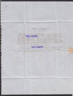 Lettre De 1848 - SPA - Notice De Théodore DERIVE , Envoyée Au Bourgmestre De La Ville De LOKEREN - Historische Documenten