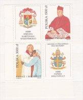 Poland 1992 Pope John Paul II And Kardinal Wyszynskiego - Two Stamps + Labels Mint/** (G36) - Popes