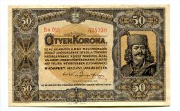 Hongrie Hungary Ungarn 50 Korona 1920 GOOD  GRADE - Hongrie