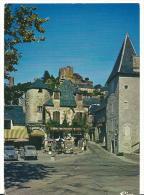 R:    Corrèze  :  TURENNE  : Vue    (  2 Chevaux  Citroën ) - France