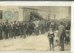 ARPAJON   N 1  FETE DES FLEURS   1907   TABAC   ATTELAGES FOULE - Arpajon