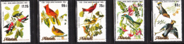 Aitutaki 1985 Audubon Birds 5v MNH - Aitutaki