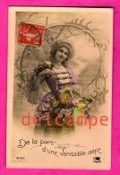 Femme Perruque Et Crinoline, De La Part D'une Véritable Amie - 1911 - Woman Wig And Crinoline - Moda