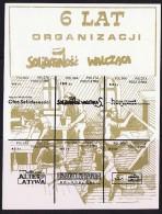6 Lat Organizacji  Solidarnosc Walczca - Solidarnosc-Vignetten
