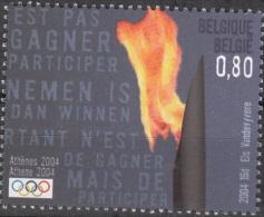 Belgique 2004 COB 3306 Neuf ** Cote (2016) 2.50 Euro Jeux Olympiques Athènes Flamme Olympique - Belgique