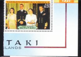 Aitutaki 1997 QE II & Prince Philips 50th Wedding Anniversary MNH - Aitutaki