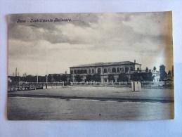 CARTOLINA -  FANO   STABILIMENTO BALNEARE - VIAGGIATA NEL 1919 II SCELTA ONDULATA - Fano